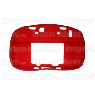 Housse silicone rouge manette GamePad Wii-U