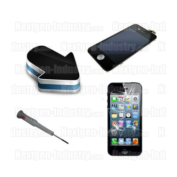 reparation ecran lcd vitre tactile iphone 5. Black Bedroom Furniture Sets. Home Design Ideas
