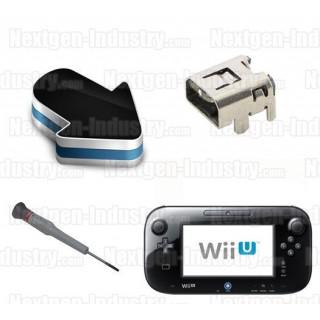 Réparation connecteur prise chargeur GamePad Wii U
