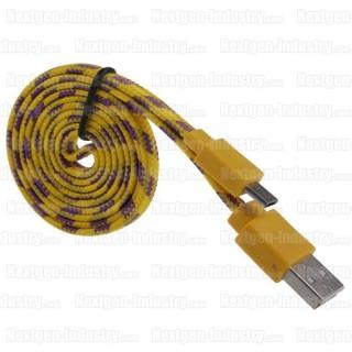 Câble Micro-USB 2.0 renforcé 2m pour chargeur tablette téléphone