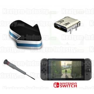 Réparation connecteur prise chargeur Nintendo Switch