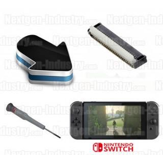 Réparation connecteur écran LCD Nintendo Switch